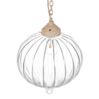 Orla Glass Pendant Light in Plain Ivory
