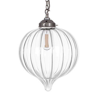 Orla Glass Pendant Light in Polished