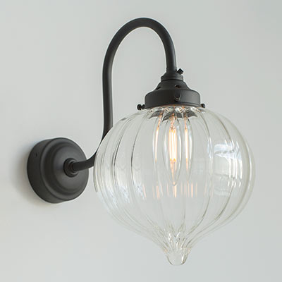 Mia Wall Light in Matt Black