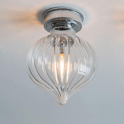Mia Flush Fitting Ceiling Light in Nickel