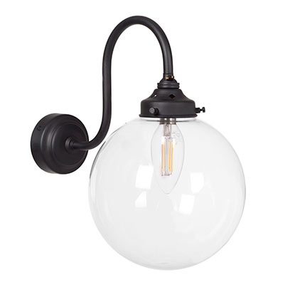 Compton Wall Light in Matt Black
