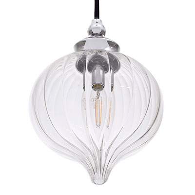 Mia Bathroom Pendant Light in Nickel