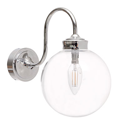 Bathroom outdoor glass lighting nickel wall light 3454ni 11g mozeypictures Images