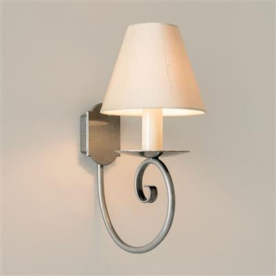 Single Scrolled Wall Light in Polished