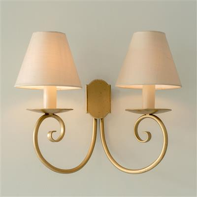 Double Scrolled Wall Light in Old Gold