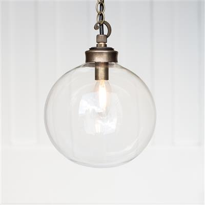 Holborn Porch Pendant Light in Antiqued Brass