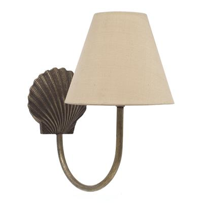 Single Saunton Bathroom Wall Light in AntiquedBrass