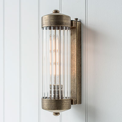 Cheltenham Wall Light in Antiqued Brass
