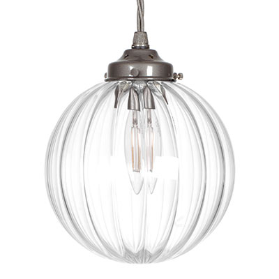 Putney Glass Pendant Light in Polished