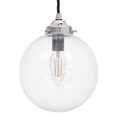 Compton Glass Pendant Light in Nickel