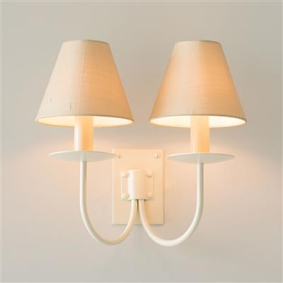 Double Smuggler's Wall Light in Plain Ivory