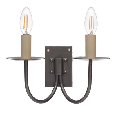 Double Smuggler's Wall Light in Polished