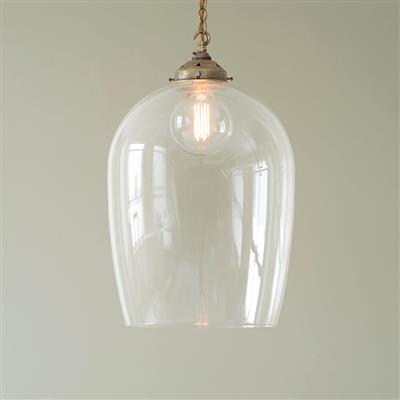 Large domed glass pendant light brass ceiling light jim lawrence 3483ab 12g aloadofball Image collections