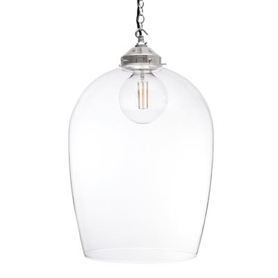 Lansdown Glass Pendant Light in Nickel