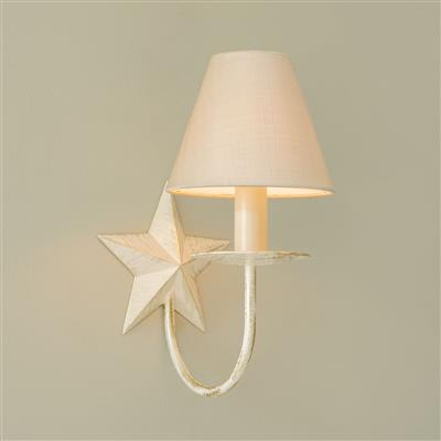 Single Star Wall Light in Old Ivory