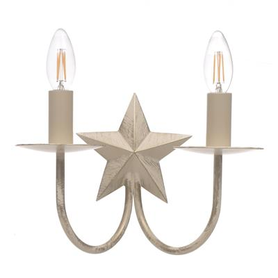 Double Star Wall Light in Old Ivory