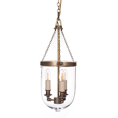 Bonham Lantern in Antiqued Brass