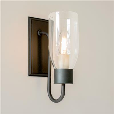 Single Morston Wall Light in Beeswax with Clear Glass