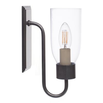 Single Morston Light in Polished, Clear Glass