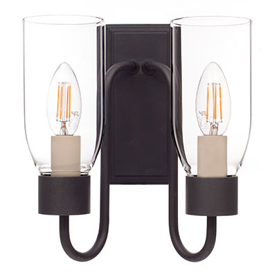 Double Morston Light in Beeswax, Clear Glass