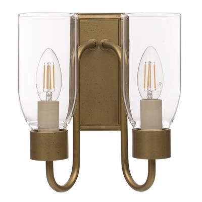 Double Morston Light in Old Gold, Clear Glass