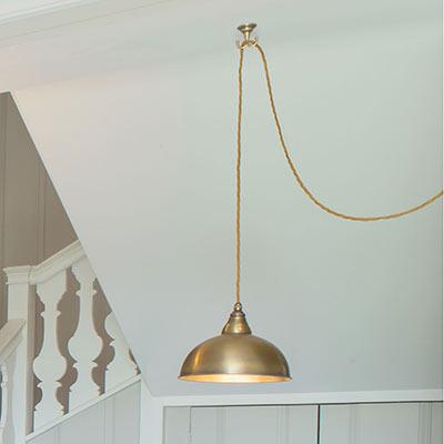 Brass Pendant Flex Ceiling Hook Swag A Ceiling Light