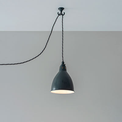 Pendant Flex Ceiling Hook in Slate Grey
