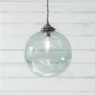Holborn Greeny Blue Coloured Glass Pendant Lightin Polished