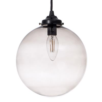 Holborn Charcoal Coloured Glass Pendant Light in Matt Black