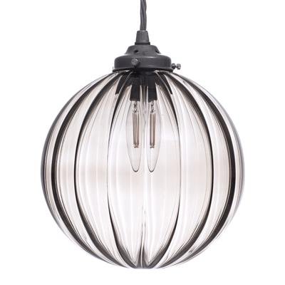 Fulbourn Charcoal Glass Pendant in Polished