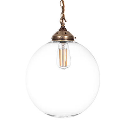 Richmond Pendant Light in Antiqued Brass