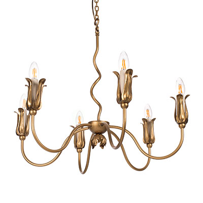 Tulip Pendant Light in Old Gold
