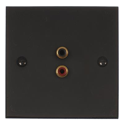1 Gang Audio Visual Outlet Beeswax Bevelled Plate