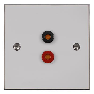 Audio Speaker Socket Nickel Bevelled Plate