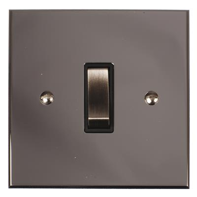 1 Gang Steel Retractive Grid Switch NickelBevelled Plate