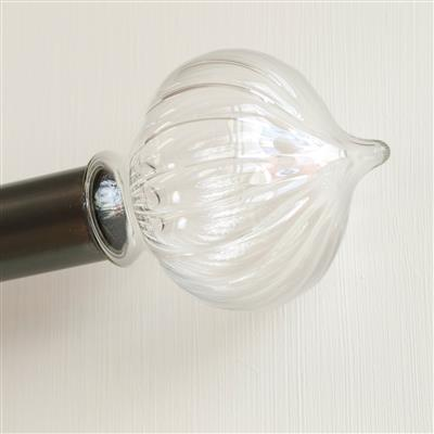 38mm Fluted Ava Glass Finial(discontinued, only stock shown available)