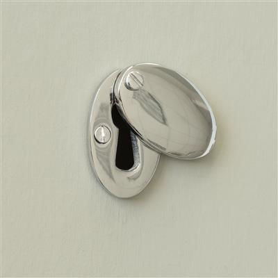 Priory Escutcheon Plate with Flap in Nickel