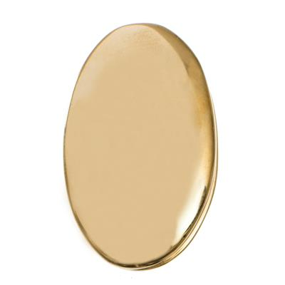 Priory Escutcheon Plate with Flap in Pol Brass