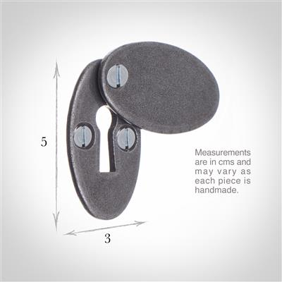 Priory Escutcheon Plate with Flap in Polished