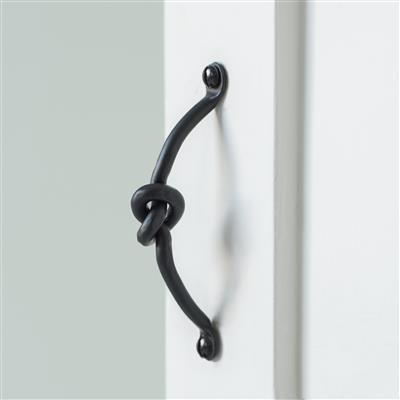 Knotted Drawer Pull in Matt Black