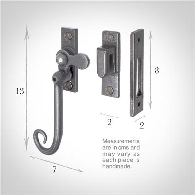 Monkey Tail Lockable Window Latch (Right Side) inPolished