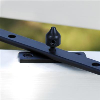Lockable Window Stay Pin in Matt Black