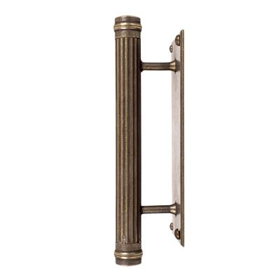 Stowe Door Pull in Antiqued Brass