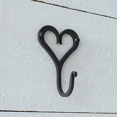 Forged Heart Hook in Beeswax