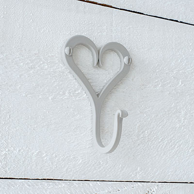 Forged Heart Hook in Clay