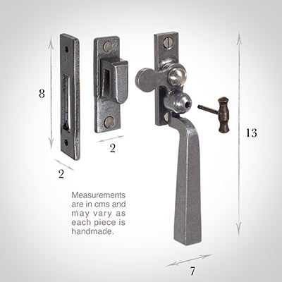 Manson Lockable Latch (Left) in Polished