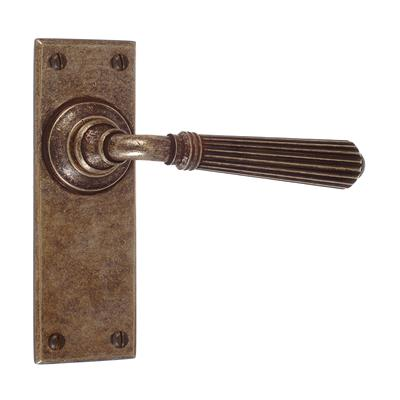 Bromley Handle, Bristol Plain Plate, Antiqued Brass