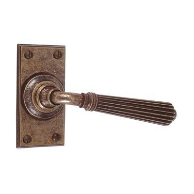 Bromley Handle, Ripley Short Plate, Antiqued Brass