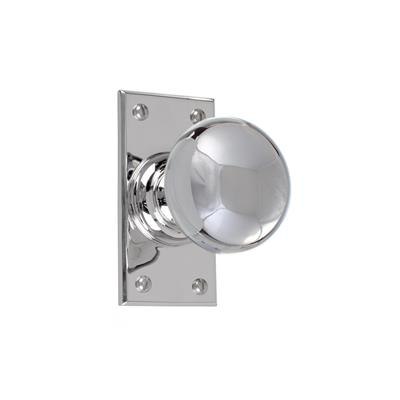Holkham Door Knob, Bristol Short Plate, Nickel