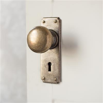 Holkham Door Knob with Ilkley Keyhole Backplate